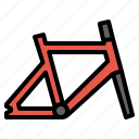 bicycle, bike, body, frame, parts icon