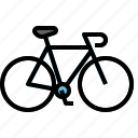 bicycle, bike, riding, road icon
