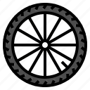 bicycle, cycling, part, trie, wheel icon
