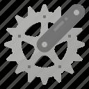 bicycle, crankset, drive, gear, wheel