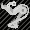 bicycle, change, derailleur, device, gear icon
