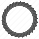 bicycle, bike, outer, parts, tire icon