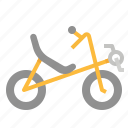 bicycle, bike, recumbent, riding, touring icon