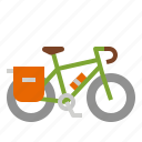 bicycle, bike, cycling, riding, touring icon