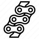 bicycle, chains, drive, gear, wheel icon