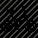 bicycle, bikes, cycling, folding, riding icon