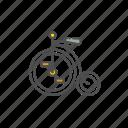 bicycle, classic, unicycle, vintage icon