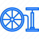 bicycle, bike, cyclist, inflation, pump, tire, tournament icon