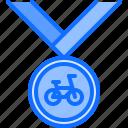 award, bicycle, bike, cyclist, medal, tournament, win icon