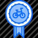 award, badge, bicycle, bike, cyclist, tournament, win icon