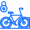 bicycle, bike, cyclist, lock, parking, space, tournament icon