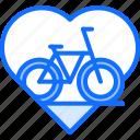 bicycle, bike, cyclist, heart, love, tournament icon