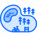 bicycle, bike, cyclist, finish, tournament, track, way icon
