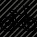 bicycle, bike, cyclist, side, tournament icon