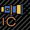 electronics, exploration, flashlight, investigation, light, security, torch icon