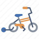 bicycle, children, journey, ride, transport, transportation, vehicle icon