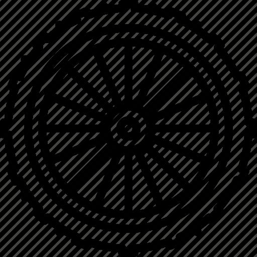bicycle, front, mountain, part, tire, wheel, yumminky icon