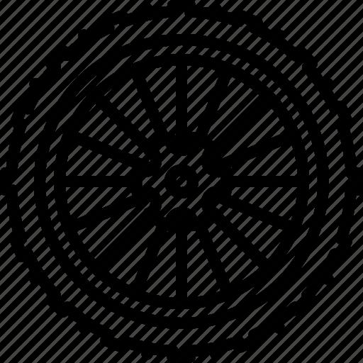 bicycle, gear, mountain, part, rear, wheel, yumminky icon