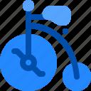 bicycle, bike, old, vintage, wheel icon