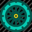 bicycle, bike, rim, tire, wheel icon
