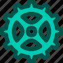 bicycle, bike, bracket, chain, gear icon