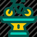bicycle, bike, championship, race, trophy icon