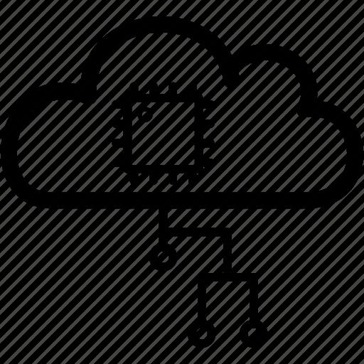 application, cloud, internet, remote, service icon