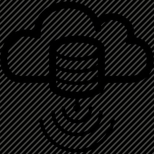 base, cloud, database, hosted, service icon