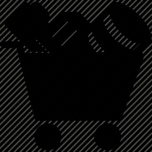 amount, collecting, data, process, profiling, storage icon