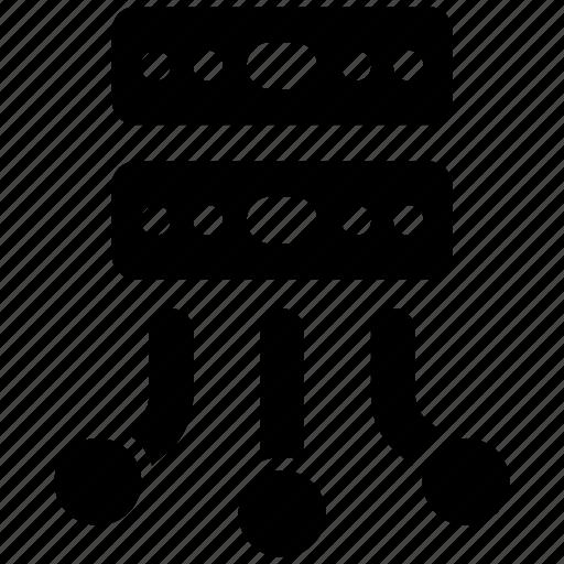 database, server, sharing icon