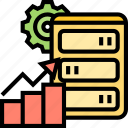 processing, server, develop, performance, efficiency icon