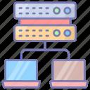 db, server, databank, broker, data, object, database icon