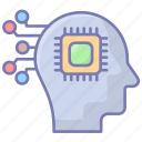 robotics, brain, ai, artificial, fiction, technology, science icon