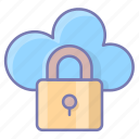 secure, cloud, data, protection, lock, connection, security