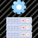 mainframe, hosting, data, gear, server, center, maintenance icon