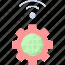 wifi, settings, control, internet, global, smart, wlan icon