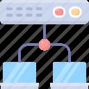 load, connection, data, organize, balancing, server, storage icon