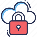 cloud, security, data, connection, protection, secure, lock