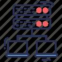 object, broker, database, data, server, databank, db icon
