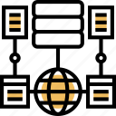 data, modelling, server, connection, processing icon