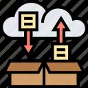 cloud, storage, data, transfer, backup