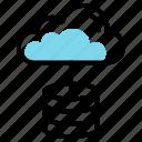 cloud data, cloud format, cloud storage, database servers, database storage, high speed servers icon