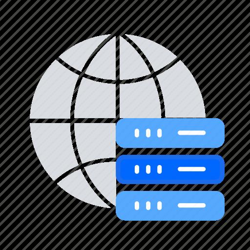 Bigdata, global server, global storage, hosting server, main server icon - Download on Iconfinder