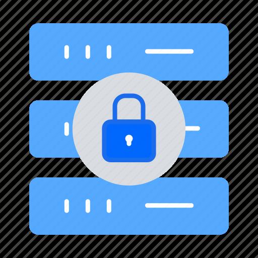 backup, data center, database protection, lock, network, safety, security icon