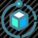 box, data, tech icon