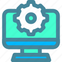 computer, maintenance, settings icon
