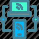 responsive, sync, website icon