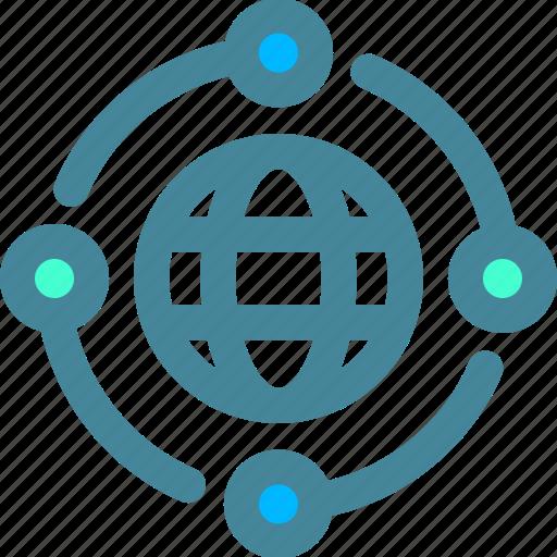 globe, internet, website, world icon