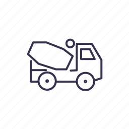 car, mixer, truck, van, vehicle icon