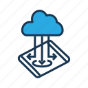 cloud maintanence, cloud optimization, cloud storage, data setting, preferences, seo icon